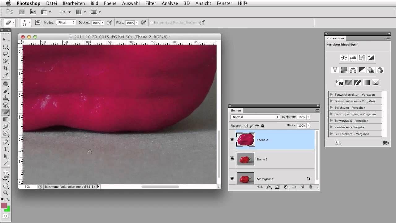 Objekte Umfarben Gimp Tutorial Photoshop Fotobearbeitung