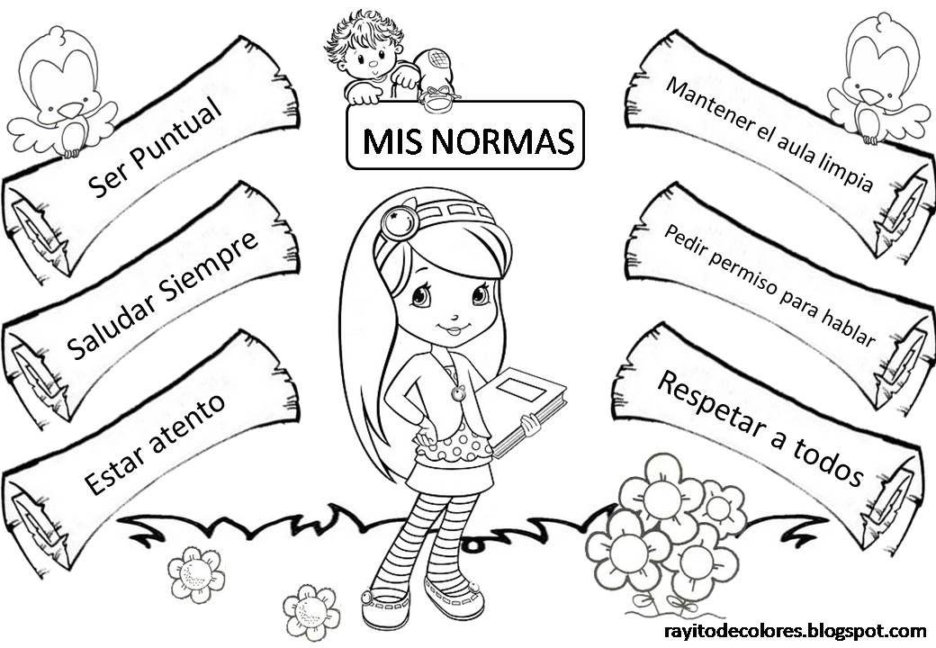 Cartel De Normas Actividades Preescolar Imagenes De Convivencia