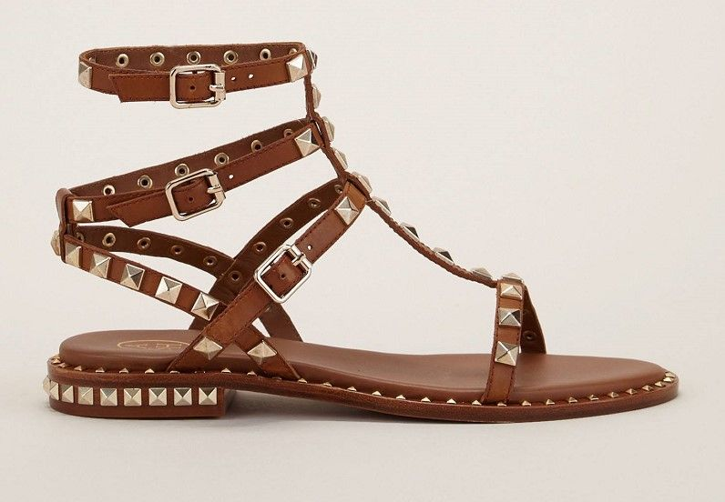 1a0f545b82f10e Ash Poison Sandales à rivets cloutés marron | Chaussures pas cher ...