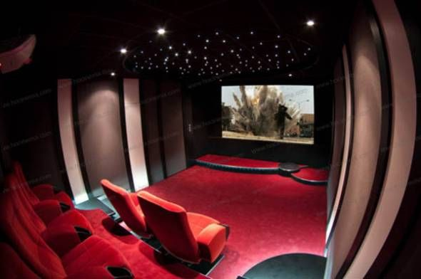 am nager une mini salle de home cin ma chez soi cinema men cave and basements