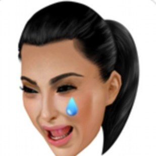 Yes, the iconic Kim ugly-cry face that was turned into an emoji for her