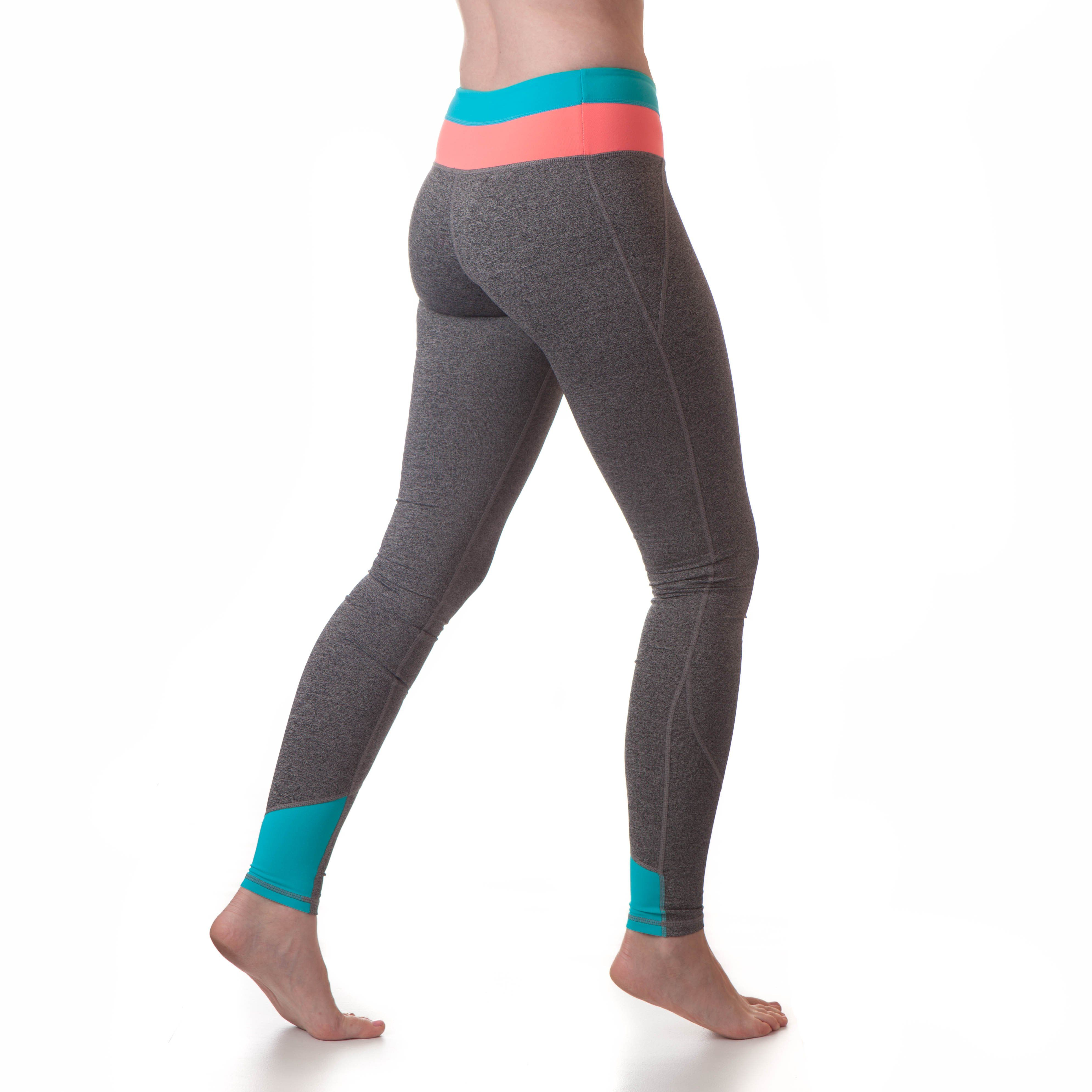 5ff7827336f Extra Long Yoga Pants for Tall Women (Coral Neon Blue)