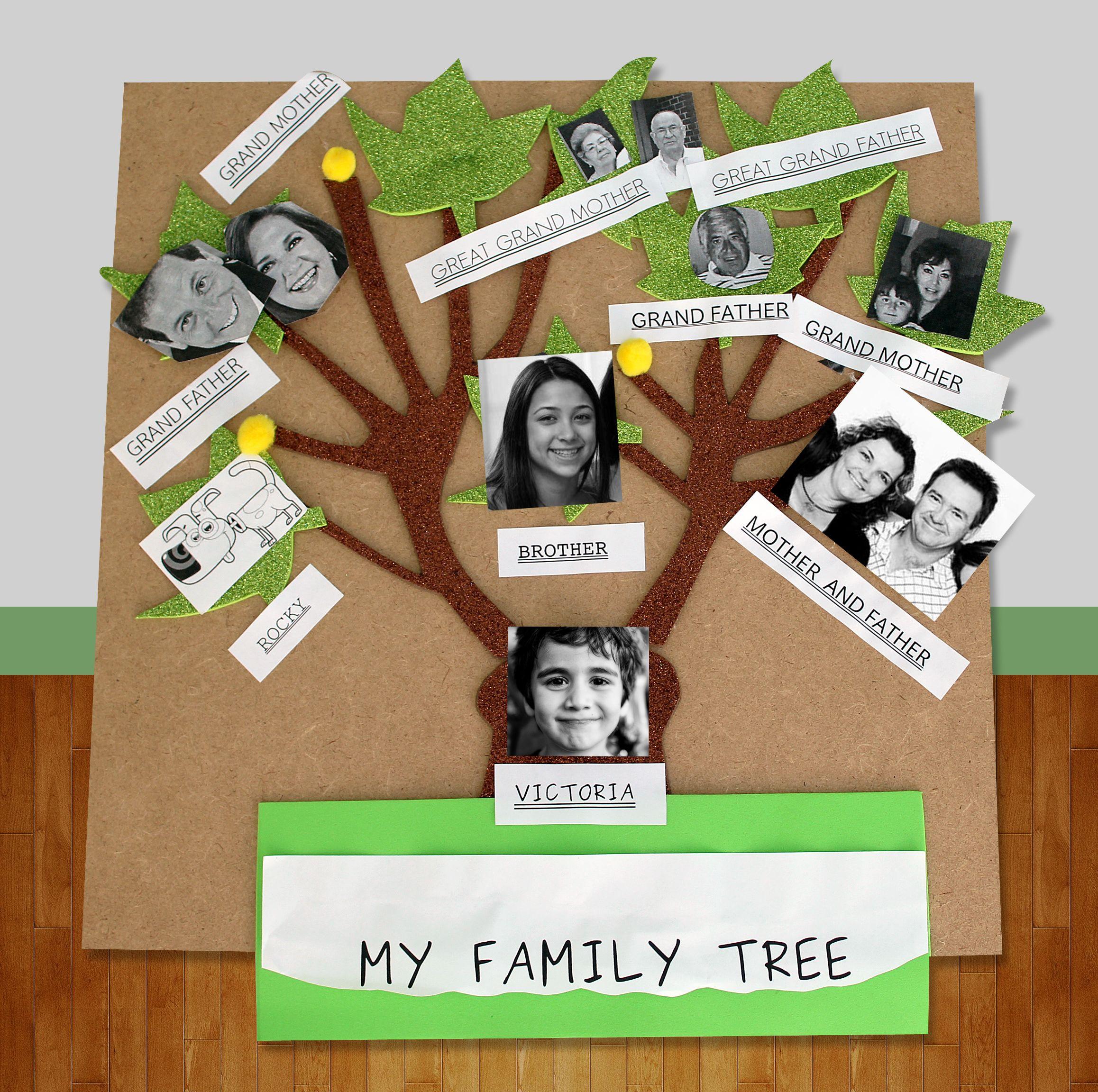 Idea de como realizar un rbol geneal gico manualidades - Ideas para hacer un arbol genealogico ...