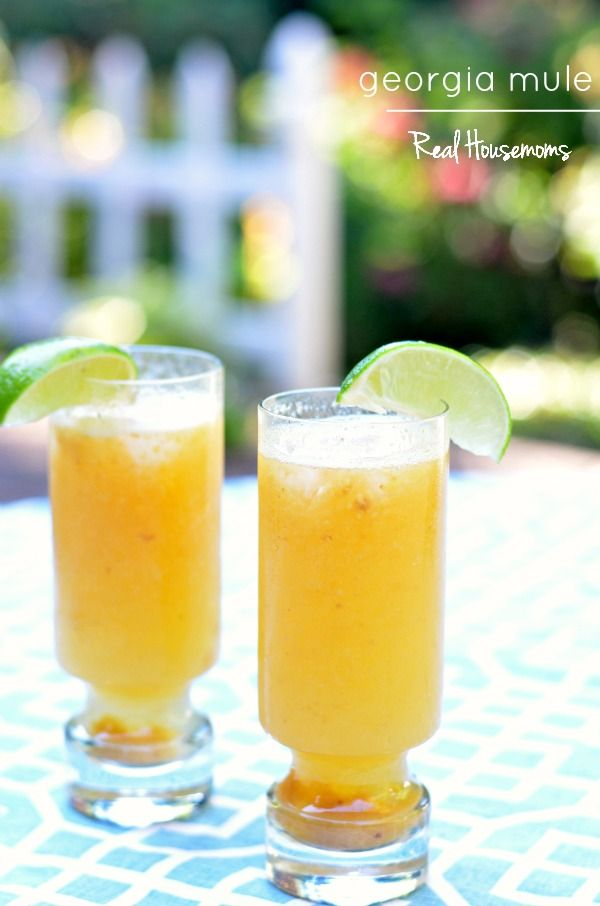 Georgia Mule | Real Housemoms. Moscow Mule with peach puree ...