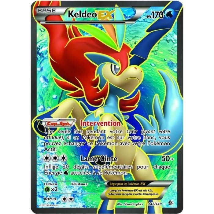 Pokemon Keldeo Ex Full Art 170 Pv 142 Carte Pokemon