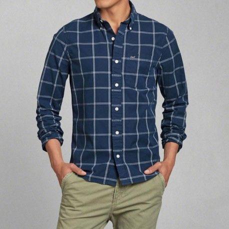 Camisas Abercrombie Para Hombre Manga Larga