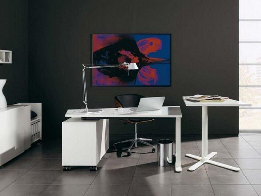 office room furniture design. White Modern Office Furniture Design Small Contemporary Home . Room O