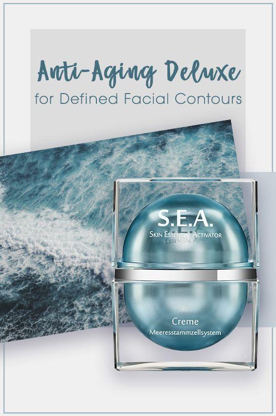 Deluxe Anti-Aging Deluxe: Die geschmeidige S.E.A. Creme revitlaisiert die Stammzellen bis tief in die Haut und fördert dadurch sowohl die Zellerneuerung als auch die Zellregeneration - für definierte Gesichtskonturen. ~ ~ ~ Anti-Aging Deluxe: The nourishing S.E.A. Cream revitalizes the stem ce