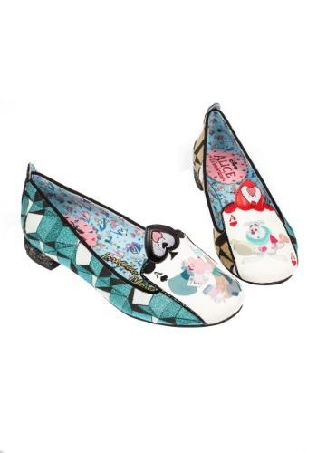 """""""Card Soldiers"""" flats - Irregular Choice Alice in Wonderland shoes"""