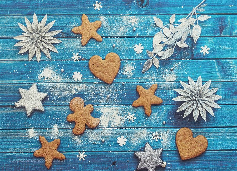 http://500px.com/photo/190326119 Christmas treats by magdan78 -. Tags: bluechristmasfoodgingertreatsgingerbreadchristmas mood