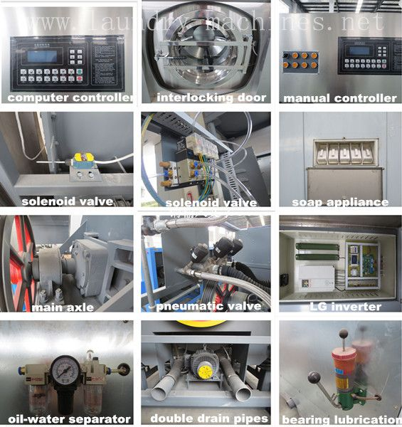 Commercial Industrial Washing Machine Automatic Washer Extractor