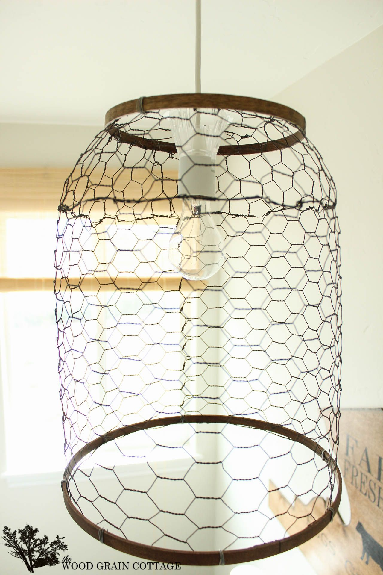 Laundry Room Farmhouse Light | Chicken wire, Ceiling lights and Ceilings
