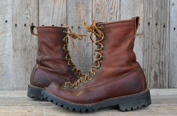 Vintage 60 S Danner Lace To Toe Mountaineer Hiking Monkey Boots Women S 6 5 Boots Danner Hiking Boots Monkey Boots