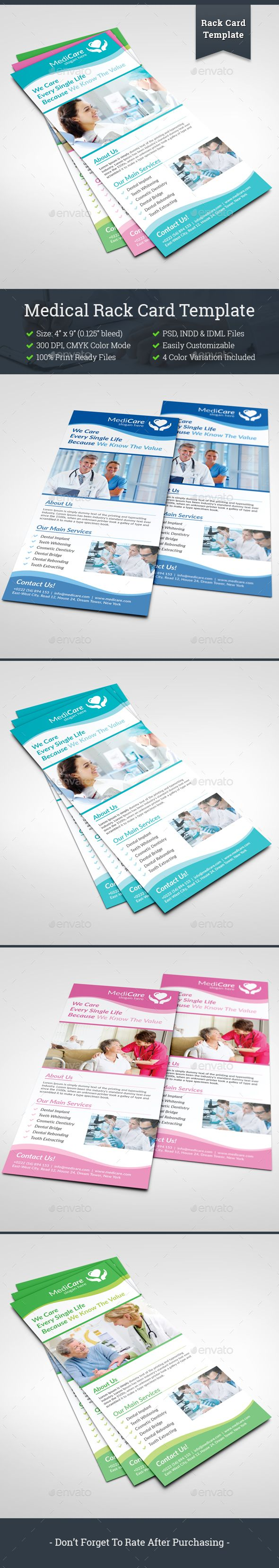 Medical Rack Card Template  Business Card Templates Fonts And
