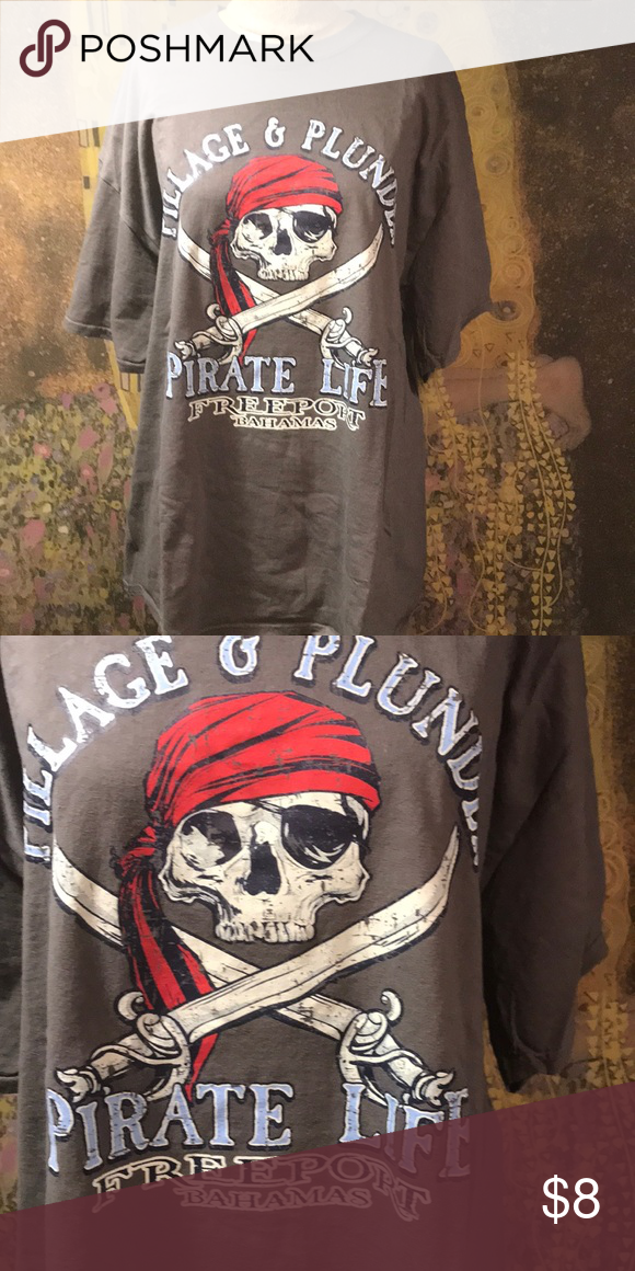 1892cf4b45689 Fun Men s Pirate T-shirt Size 2XL Pillage   Plunder pirate shirt by Gildan.  It s a size 2XL and has only been worn once!! Gildan Shirts Tees - Short  Sleeve