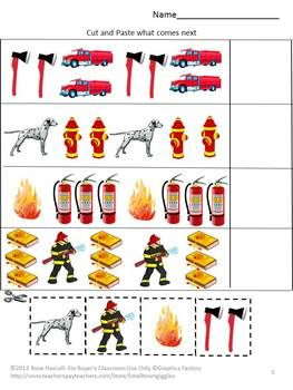 Fire Safety Activities Math & Literacy Cut & Paste Special ...