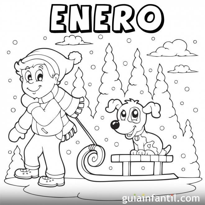 Enero Para Colorear Coloring Pages Coffee Pods Crafts Colorful Pictures