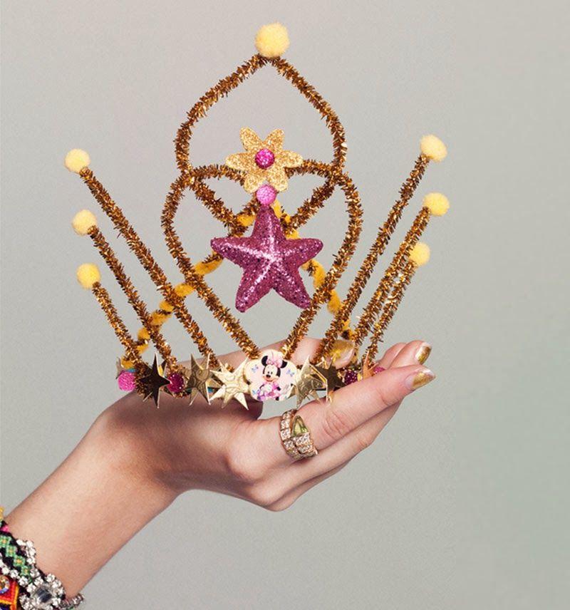 Ideas diy de c mo hacer coronas de reyes magos o tiraras - Como hacer coronas de navidad ...