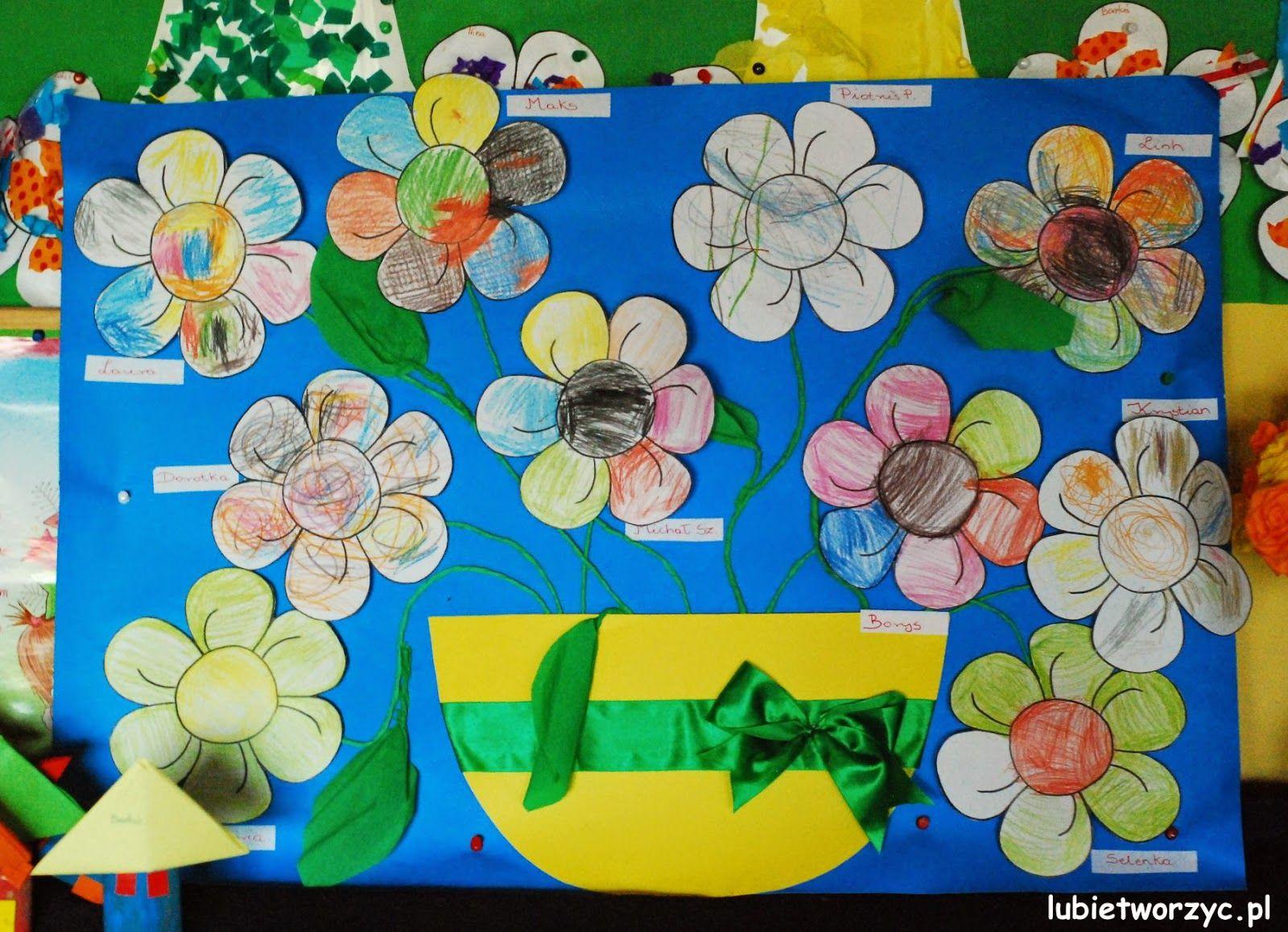 Lubie Tworzyc Wiosenny Wazon Z Kwiatami Stage Decorations Painting Decor
