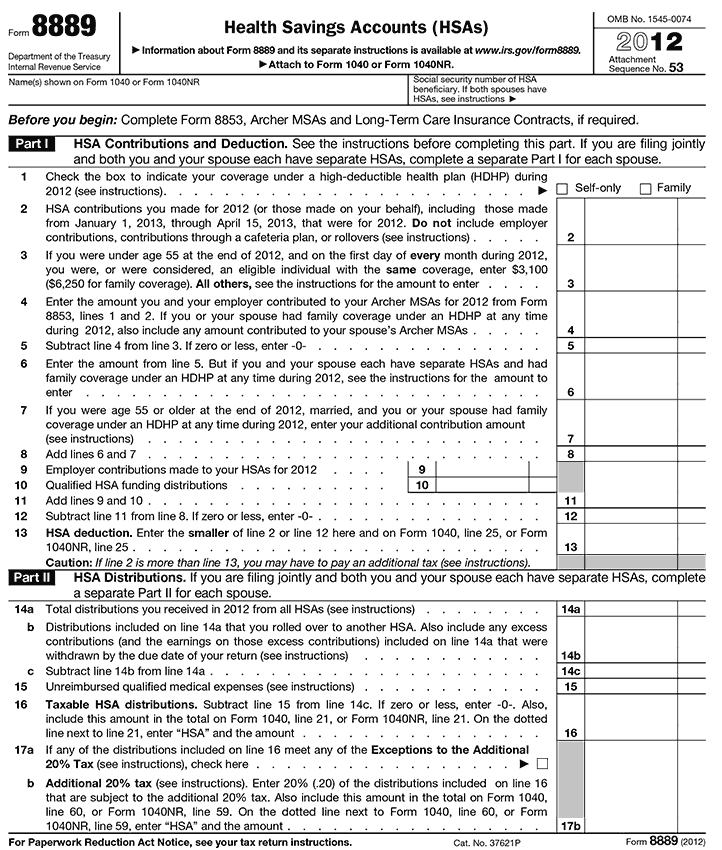 Irs Form 8853 Image Collections Free Form Design Examples