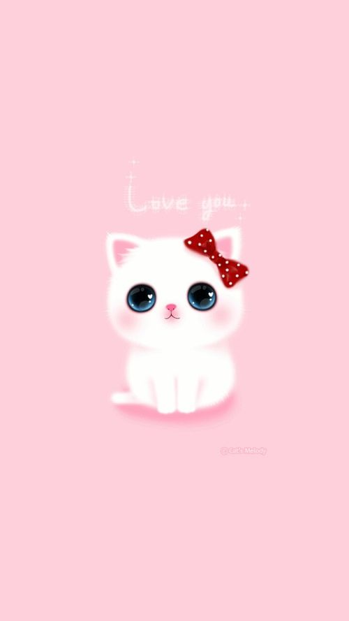 Cat cute kawaii backgroud wallpaper anime cartoon - Kawaii anime iphone wallpaper ...