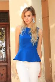 Blusa azul Julia