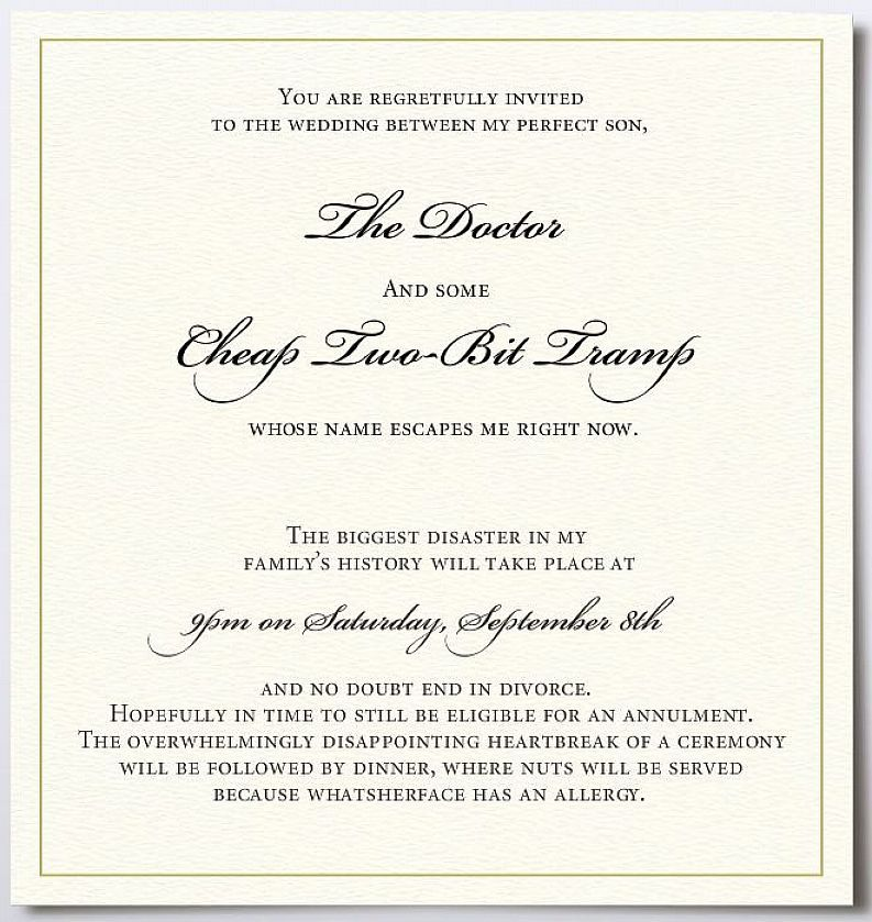 Wedding Reception Invitation Wording Funny: Sample Wedding Invitation Wording For Reception Only