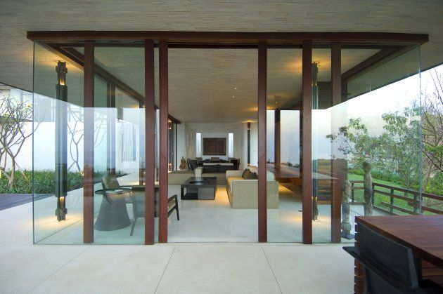 Interior Using Translucent Glass In Living Room Alila Villas Bali With Resort Design Concept Vernacular