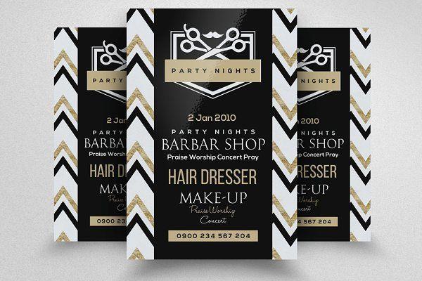 Barber Shop Flyer Template Flyers Barber Shop Pinterest
