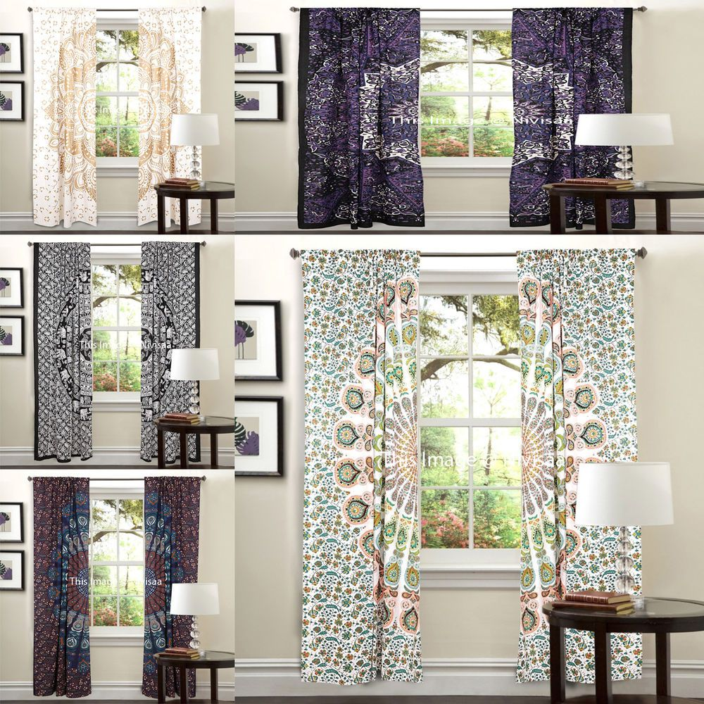 Details About Wholesale Lot Of 05 Pc Window Curtain Indian
