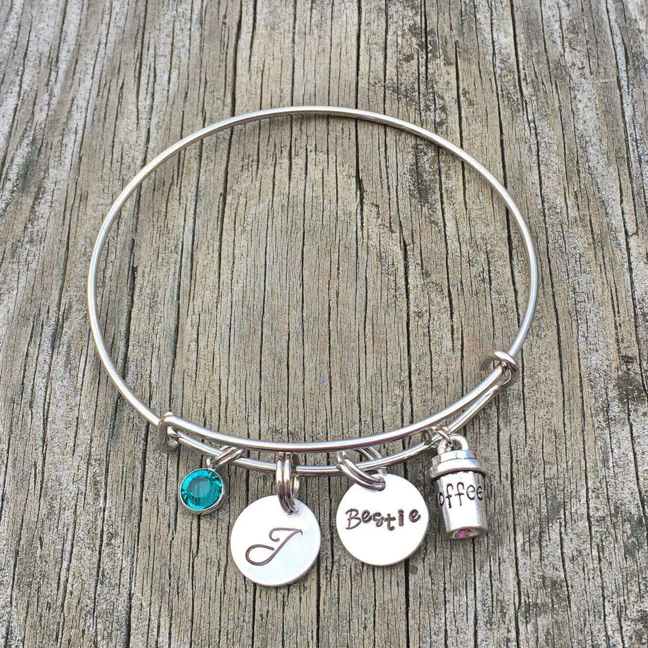 Best friend bracelet but first coffee bff bracelet