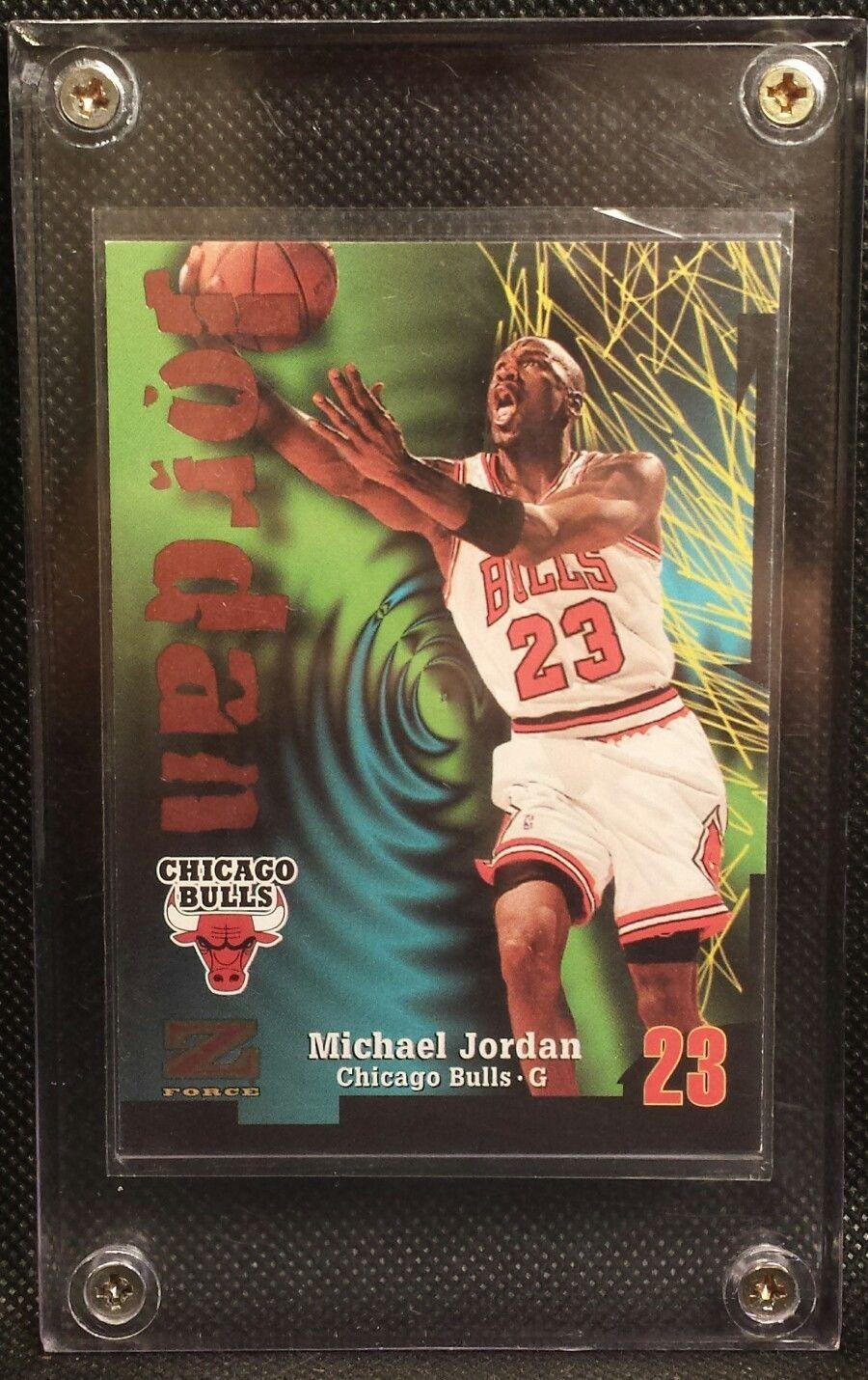 1997 skybox z force michael jordan 23 trading card chicago