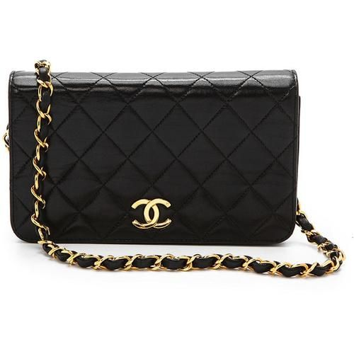 86a79314df89 CHANEL Vintage Black Lambskin Leather WOC Bag
