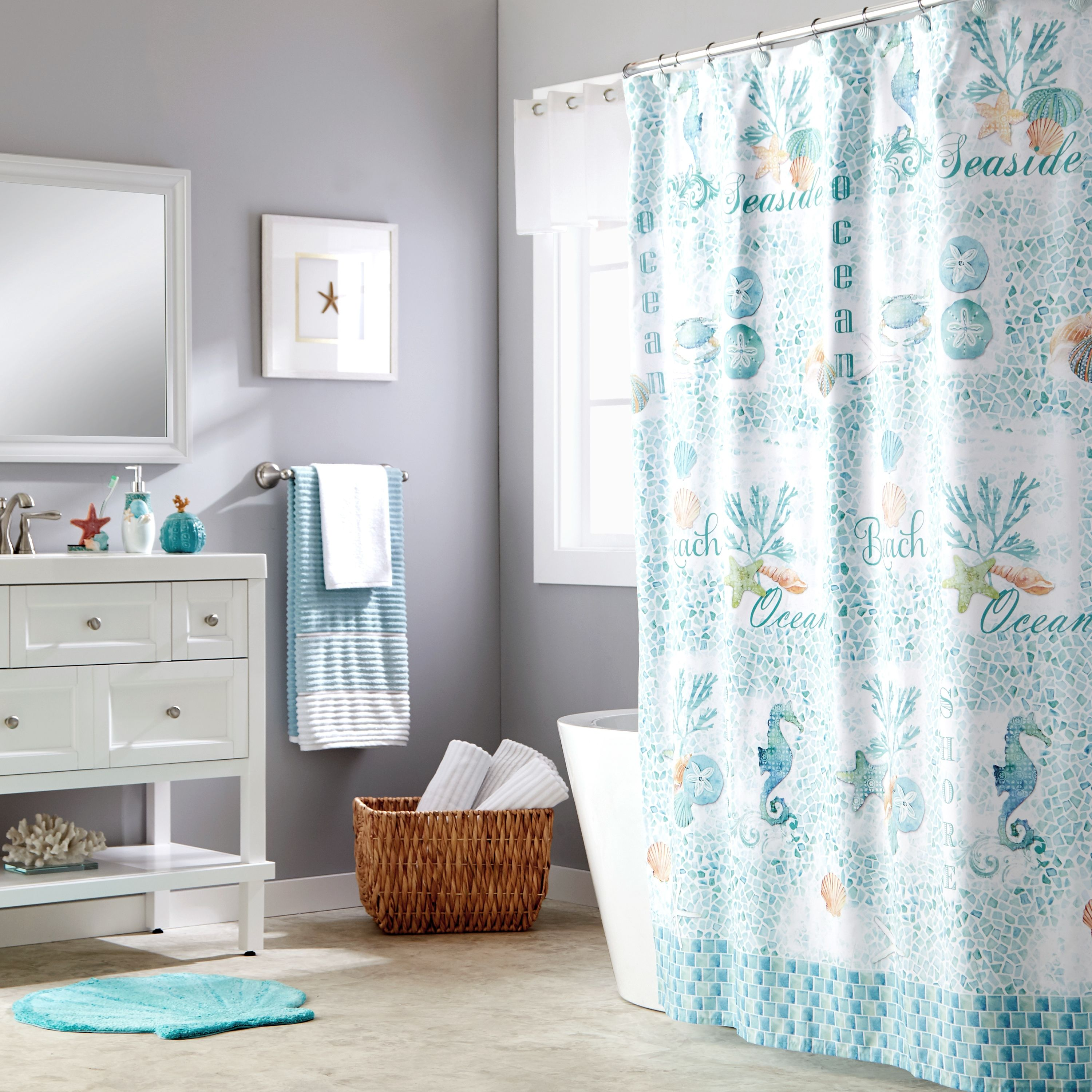 Home Fabric Shower Curtains Beach Theme Shower Curtain Cool