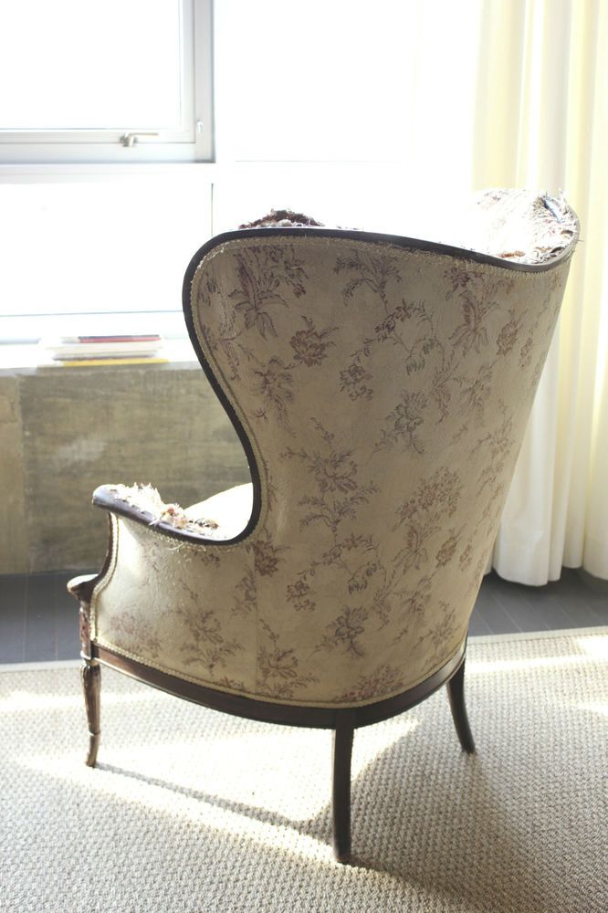 Shabby Chic Wing Chair Victorian French Vintage Wingback Armchair Mid Century Antique Chairs For Sale Mid Century Armchair Wingback Armchair