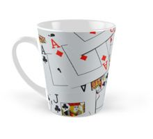 Deck Of Scattered Playing Cards. Mug