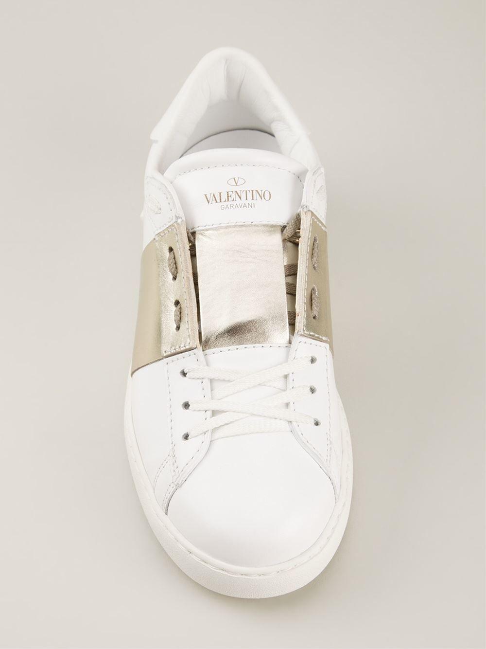 Valentino Top Garavani 'low Top Valentino Open' Sneakers Hirshleifers Farfetch dee1a6