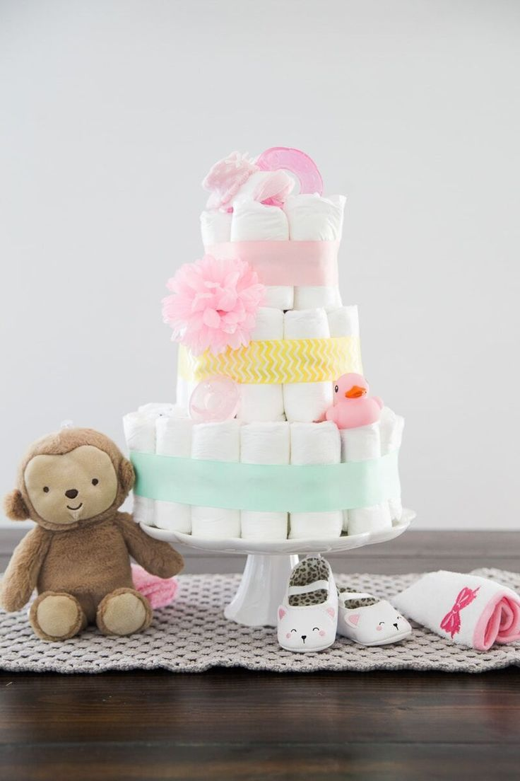How To Make A Diaper Cake The Easy Way Diaper cakes