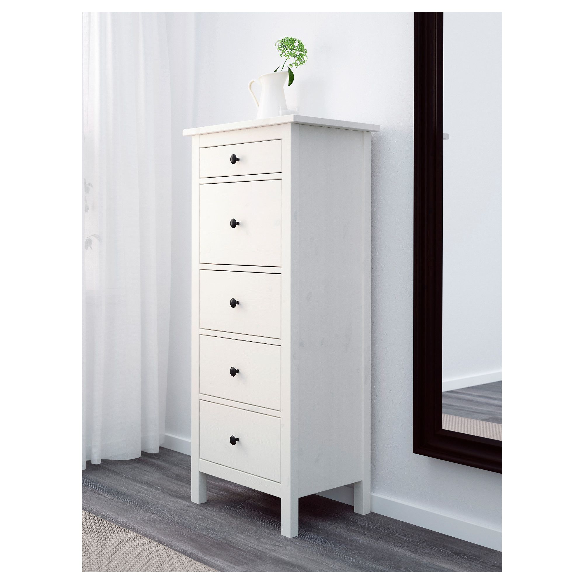 Furniture And Home Furnishings Hemnes 5 Drawer Chest White Chests