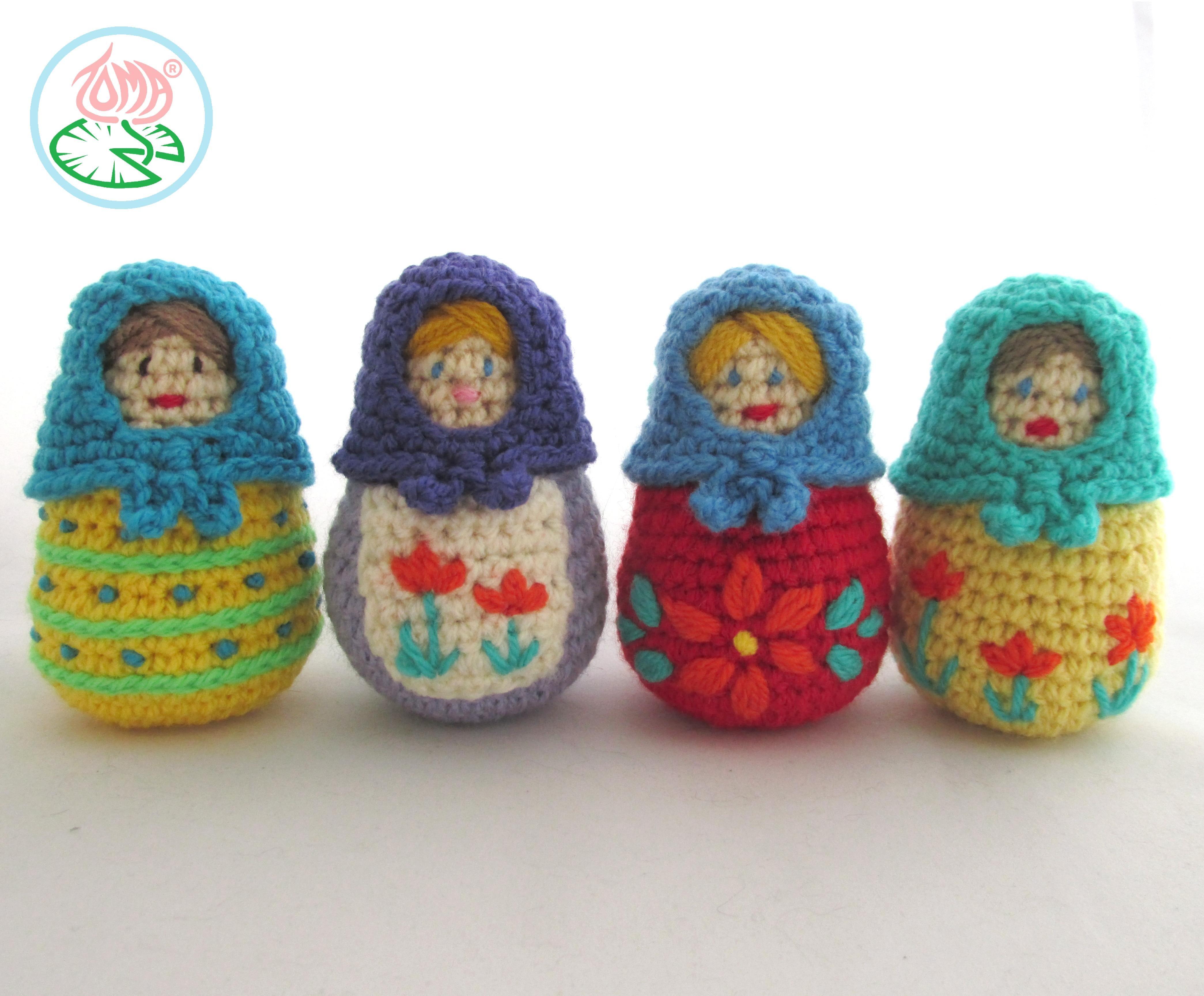Amigurumi Russian Doll Pattern : Amigirumi matryoshka u russian nesting doll pdf pattern pdf