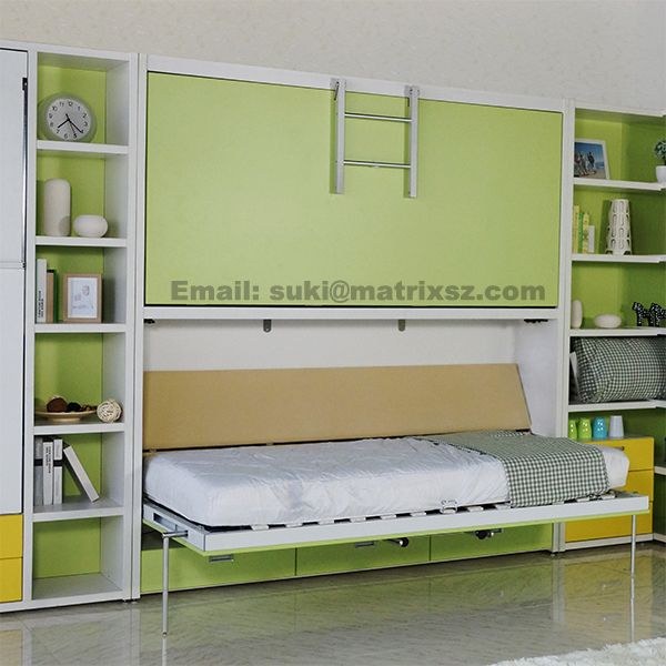 Source Murphy Bed Folding Wall Bed Wall Mounted Bed With Bunk Bed
