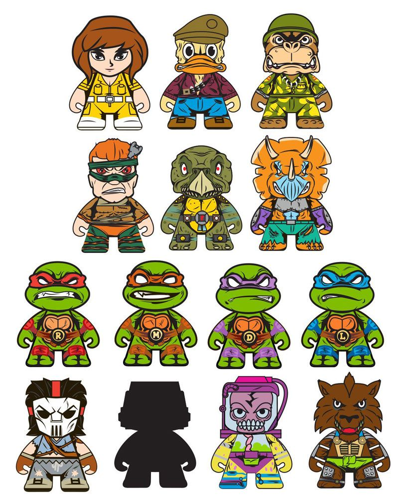Te Teenage Mutant Ninja Turtles Tv Show - Kidrobot x teenage mutant ninja turtles shell shock blind box mini figures teased