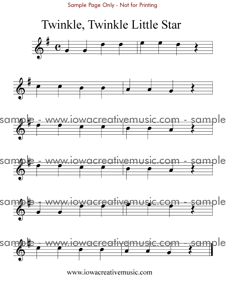 graphic regarding Free Printable Flute Sheet Music known as rookie+flute+new music Twinkle, Twinkle Small Star; inside G