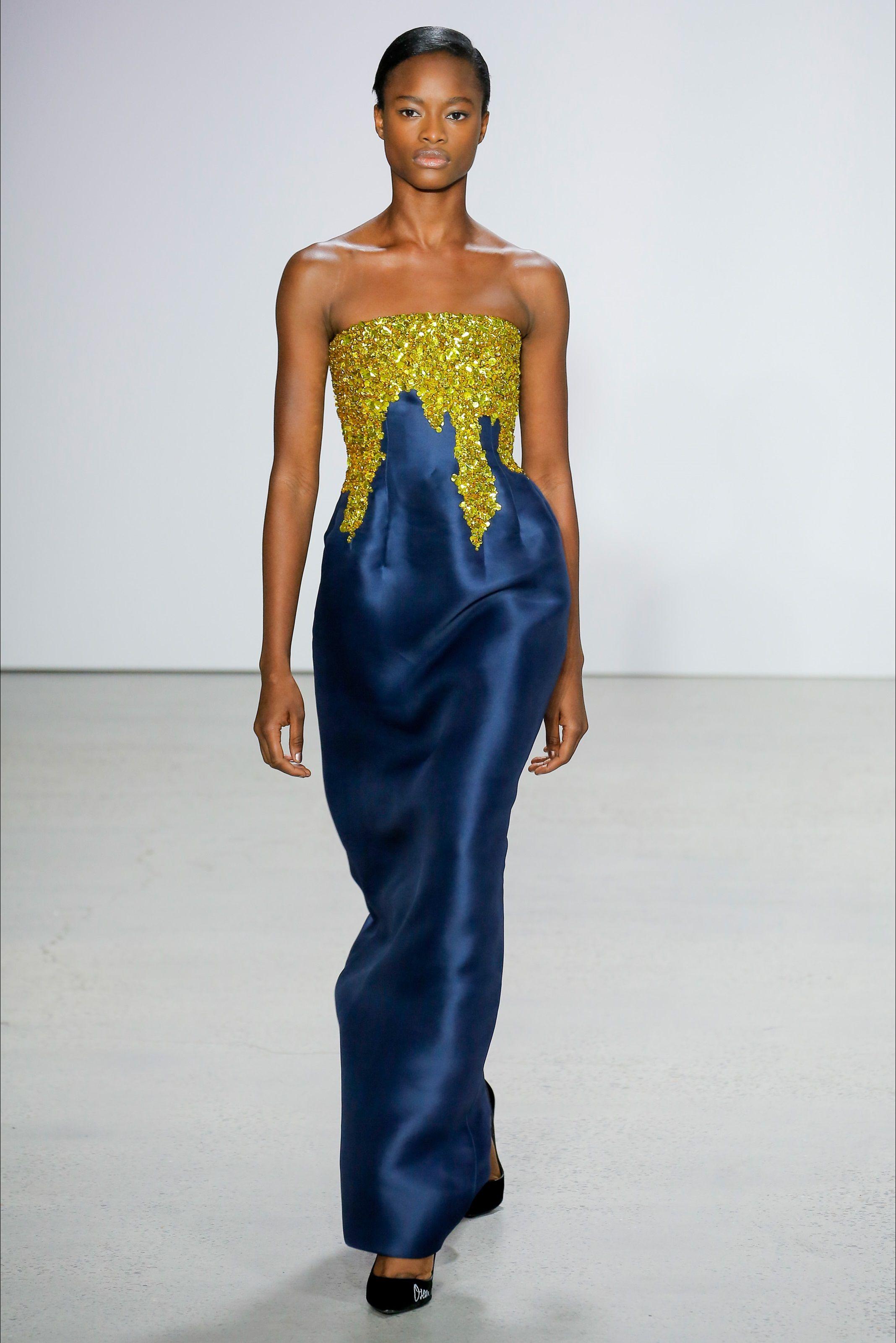 Mayowa Nicholas at the Oscar de la Renta fashion show ...