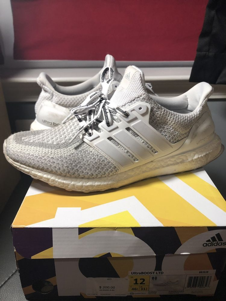 Adidas Originals White And Multicolor Ultraboost Sneakers for men