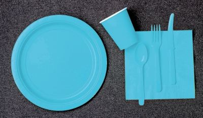 Blue paper plates napkins and cups baby Reveal Ideas & Blue paper plates napkins and cups baby Reveal Ideas | Gender ...