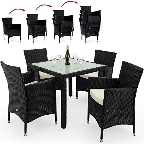 PolyRattan Sitzgruppe Gartenmöbel Lounge Sitzgarnitur Essgruppe