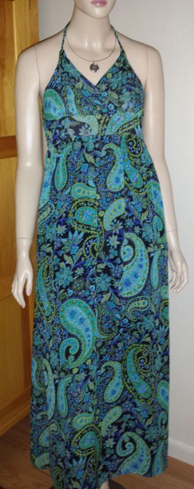 NWT Apartment 9 paisley lined maxi halter style dress size S ($60 ...