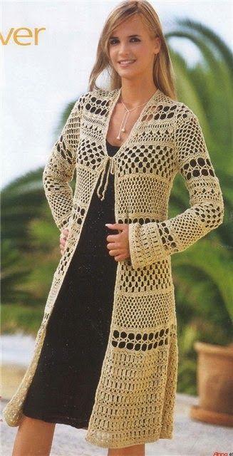 Irish crochet &: COAT | sacos largos tejidos | Pinterest ...
