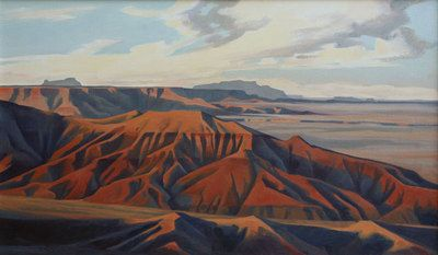 Ed Mell - Afternoon Light, Painted Desert